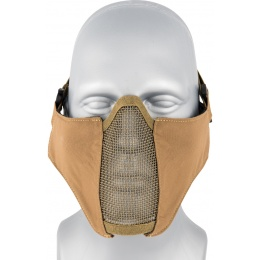AMA Nylon PDW Mesh Mercenary Airsoft Half Mask - COYOTE BROWN