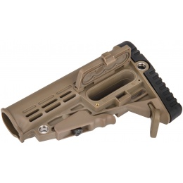 Airsoft Megastore Armory Polymer Collapsible Buttstock - DARK EARTH