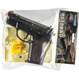 UK Arms P618BAG Spring-Loaded Airsoft Pistol - BLACK