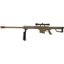 Lancer Tactical Airsoft M107 Spring Rifle w/ Scope/Bipod - DARK EARTH