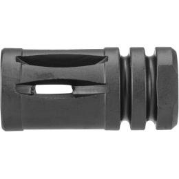 JG Works Aluminum AK47 EBB Airsoft 14mm CCW Flash Hider - BLACK