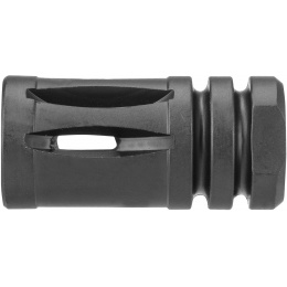 JG Works Aluminum AKM AEG Airsoft 14mm CCW Flash Hider - BLACK