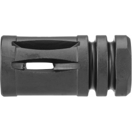 JG Works Aluminum M4 Carbine Airsoft 14mm CCW Flash Hider - BLACK