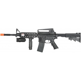 UK Arms Airsoft Spring Powered M16 Rifle - BLACK