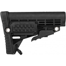Airsoft Megastore Armory Polymer Collapsible Rifle Buttstock - BLACK