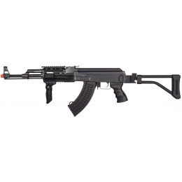JG Tactical Version Jing Gong AK47 AEG Airsoft Rifle w/ Folding Stock - BLACK