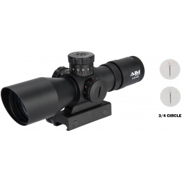 Aim Sports Titan Dual 3-9X40mm Rifle Scope w/ 3/4 Reticle - BLACK