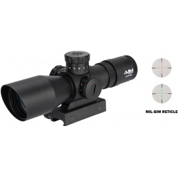 Aim Sports Titan Dual 3-9X40mm Rifle Scope w/ MIL-DOT Reticle - BLACK