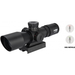 AIM Sports Titan Dual 3-9X40mm Rifle Scope w/ VR2 Reticle - BLACK