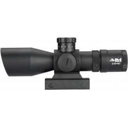 AIM Sports Titan Dual 3-9X40mm Rifle Scope w/ VR2 Reticle - BLACK