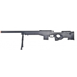 WellFire Airsoft MK96 AWS Bolt Action Sniper Rifle w/ Bipod - BLACK