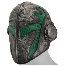 AMA Airsoft Wire Mesh Full Face Templar Mask - GREEN