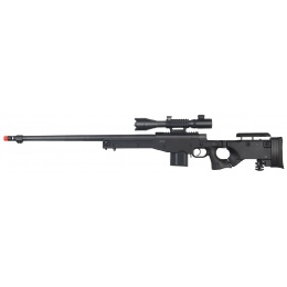 Wellfire Fluted Bolt Action Rifle w/ Illuminated Scope - BLACK