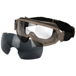 AMA Airsoft 2-Lens Regulate Eye Goggles - DARK EARTH
