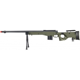 Wellfire Airsoft Bolt Action Rifle w/ Barrel & Bipod - OD GREEN