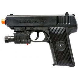 UK Arms M333AF Spring Airsoft Pistol w/ Laser and Flashlight - BLACK