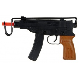 UK Arms M309A Scorpion Faux Wood Spring Airsoft Pistol - BLACK