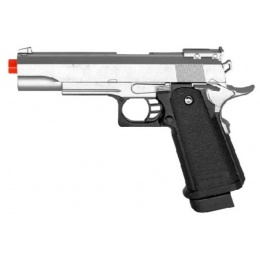 UK Arms G6S Metal Shell Spring Airsoft Pistol - SILVER