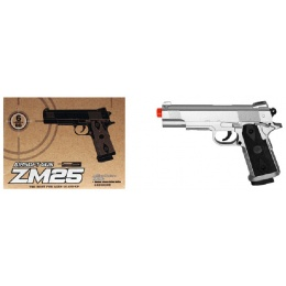 CYMA Metal ZM25S M1911 Spring Pistol - SILVER