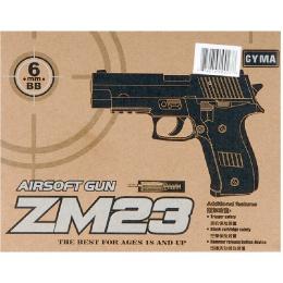 CYMA ZM23 Mk.23 Metal Spring Pistol - BLACK