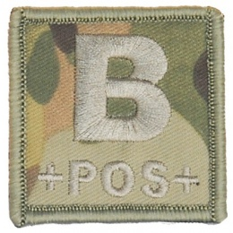AMA Airsoft Hook and Loop Base Blood Type B Patch - CAMO