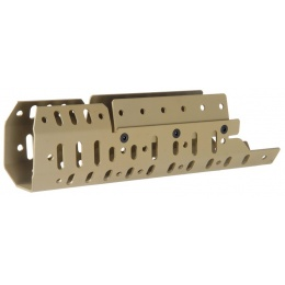 AMA Tactical Airsoft Aluminum CASV Mk16/Mk17 Rail System - TAN