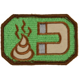 AMA Adhesive Manure Magnet Airsoft Patch - GREEN/TAN