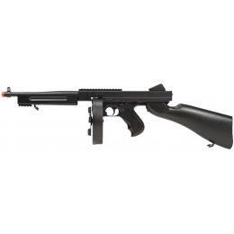 Double Eagle M1A1 Airsoft AEG Tommy Submachine Gun - BLACK