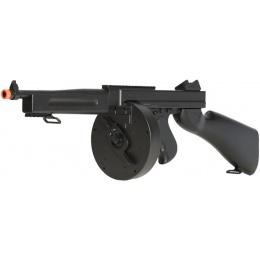 Double Eagle M1A1 Airsoft AEG Tommy Submachine Gun - BLACK