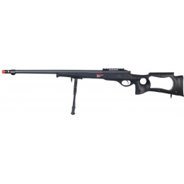 Wellfire Bolt Action Rifle w/ Fluted Barrel & Bipod - BLACK