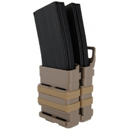 AMA Airsoft Quick Double M4/M16 Magazine Pouch - TAN
