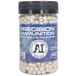 ASG Precision Ammo Heavy 0.36 Gram 6mm Airsoft BBs - WHITE