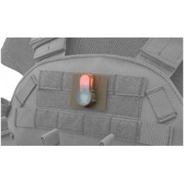 AMA S-Lite Orange LED Hook Base Strobe Light - FOLIAGE GREEN