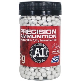 ASG Precision Ammo Heavy 0.43 Gram 6mm Airsoft BBs - WHITE