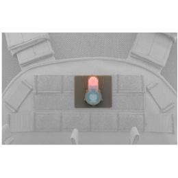 AMA Airsoft S-Lite Pink LED Hook Base Strobe Light - FOLIAGE GREEN