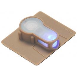 AMA Airsoft S-Lite Blue LED Hook Base Strobe Light - DARK EARTH