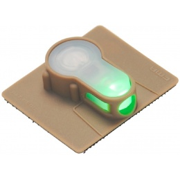 AMA Airsoft S-Lite Green LED Hook Base Strobe Light - DARK EARTH