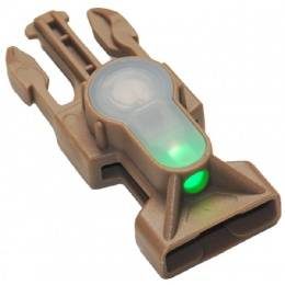 AMA Mil-Spec Green LED Buckle Strobe Light - DARK EARTH