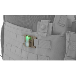 AMA Airsoft Tactical MOLLE System Strobe light - ORANGE/BLACK