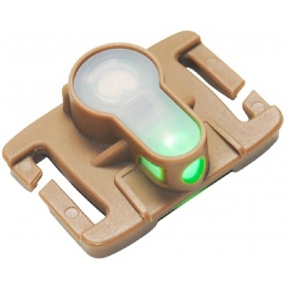 AMA Airsoft Tactical MOLLE System Strobe Light - GREEN/DARK EARTH