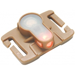 AMA Airsoft Tactical MOLLE System Strobe Light - ORANGE/DARK EARTH