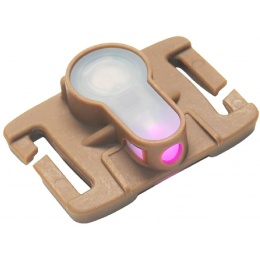 AMA Airsoft Tactical MOLLE System Strobe Light - PINK/DARK EARTH