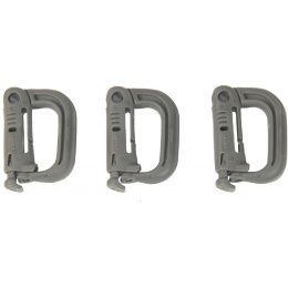 FMA Nylon Plastic Airsoft D-Buckle Mini - 3 Pack Set - FOLIAGE GREEN