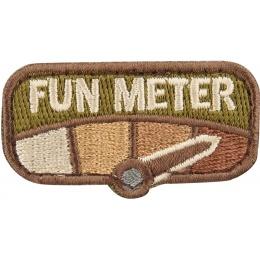 Mil-Spec Monkey Morale Hook and Loop Patch: Fun Meter - MULTICAM