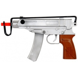 UK ARMS M309S Scorpion Airsoft Spring Rifle - SILVER/WOOD