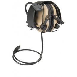 Earmor M32 Electronic Tactical Earmuffs w/ NATO Input  - TAN