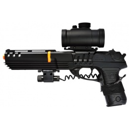 Double Eagle Spring M39 Extended Pistol w/ Scope and Laser - BLACK