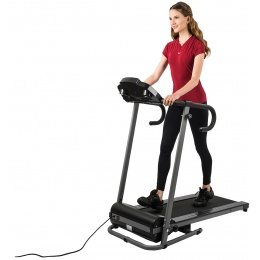 AuWit 600W Motor Fitness Machine w/ Folding Treadmill - BLACK