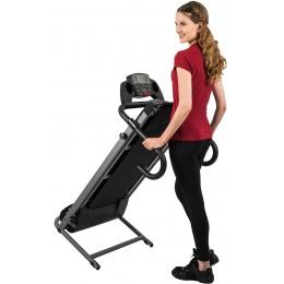 AuWit 1100W Motor Fitness Machine w/ Folding Treadmill - BLACK