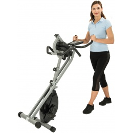 AuWit Top Level Magnetic Exercise Bike w/ Tension Control - BLACK